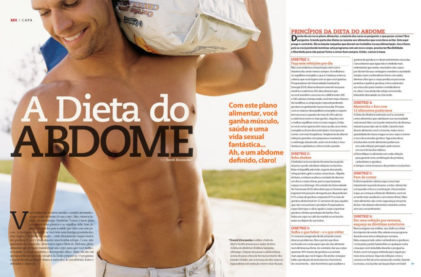 A dieta do abdome 1/3 - Men's Health Brasil