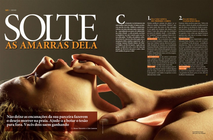 Solte as amarras dela 1/3 - Men's Health Brasil