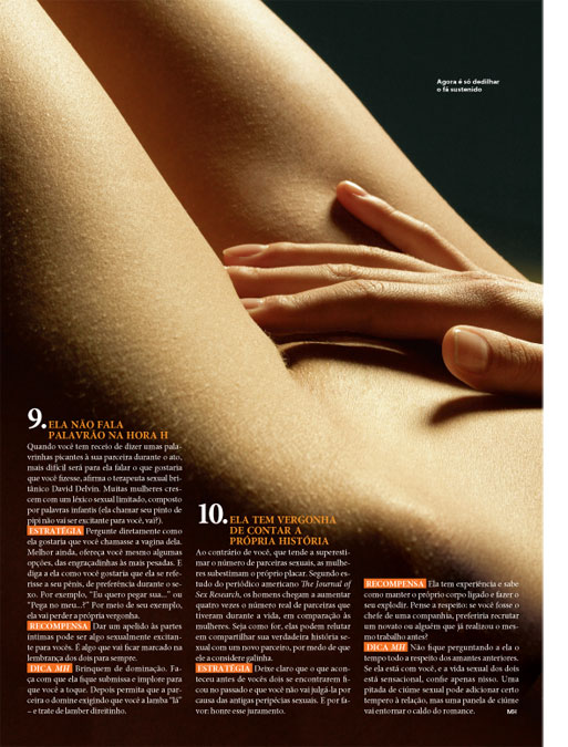 Solte as amarras dela 3/3 - Men's Health Brasil